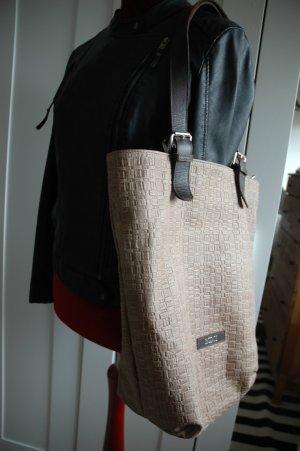 Shopper brun sable-brun noir