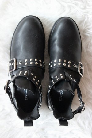 NEU! Schwarze Ankle Boots H&M Gr. 38 Kunstleder Blogger