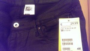 *neu* schwarze Jeans in Glanz Optik mit Reißverschlussdetail *neu* mit Etikett!
