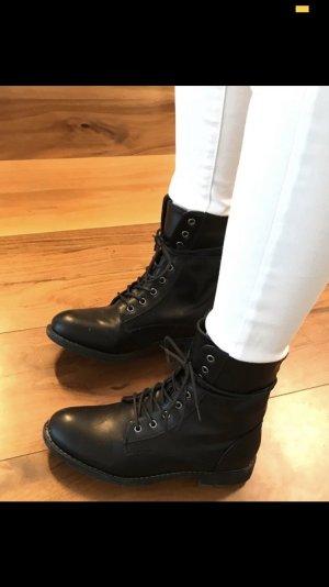 Kayla Bottines à lacets noir