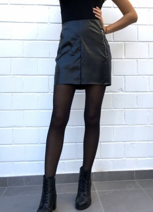 SheIn Leather Skirt black