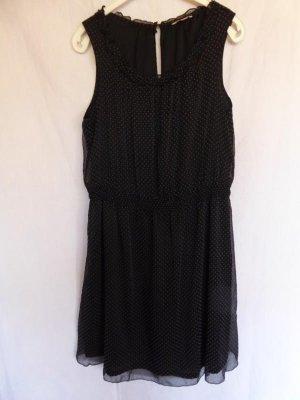 NEU: Schwarzes Kleid ohne Ärmel mit kleinen, weißen Punkten von Esprit