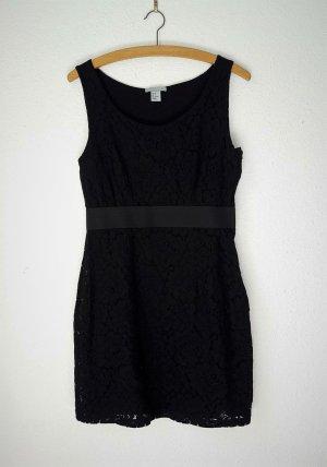 Neu schwarzes kurzes Kleid H&M 38 Etuikleid Spitzenkleid tailliert Bodycon