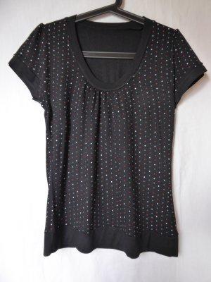 NEU: Schwarzes T-Shirt mit kleinen Punkten