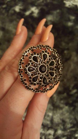 NEU sehr schöner Ring in schwarz/antikgold