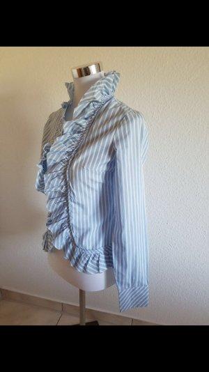 Neu Sehr süße schöne Bluse von Benetton Gr: XS Bau-weiß gestreift
