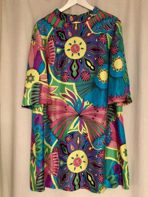 NEU Seidenkleid Sommer Kleid Seide Tunika Bluse M L 36 38 40 Top
