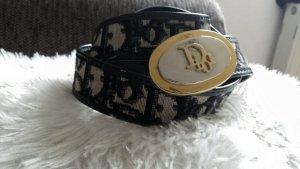 Christian Dior Hip Belt black-natural white leather
