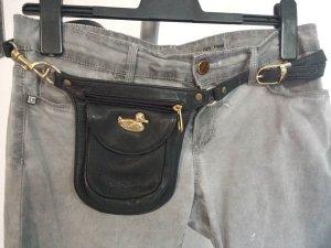 Bumbag black leather