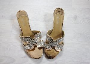 Sergio Todzi High-Heeled Sandals gold-colored-silver-colored
