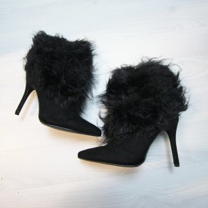 NEU Sergio Todzi Stiefeletten High Heels Kunstfell Details Boots