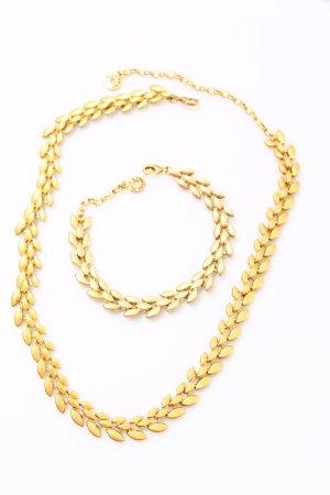 * NEU  Set Pilgrim * Kette & Armband vergoldet gold Ranken Blüten geblümt