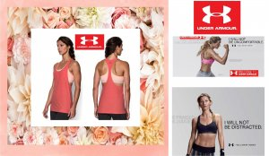 NEU SET UNDER ARMOUR SPORT BRA + TANKTOP FITNESS LAUFEN SOMMER -`ღ´