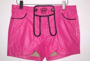 Neu - Sexy Damen Trachten Ledershorts in Pink - Edelnice Gr.38