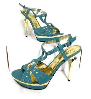 NEU Sexy High Heels - Riemchen Sandalette mit Strasssteinen von Like-You Gr. 40