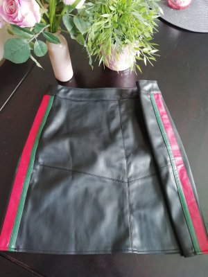 Amisu Leather Skirt multicolored