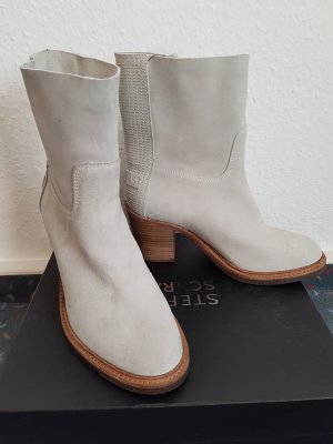 *neu*Shabbies Amsterdam ankle boots,Gr37,white yogurt!