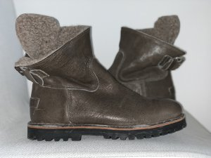Shabbies amsterdam Snow Boots grey brown-brown leather