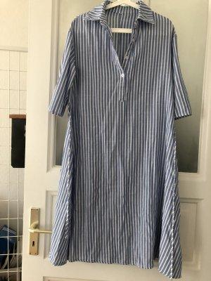 Neu! Shein Leinen Obersized Hemd Kleid