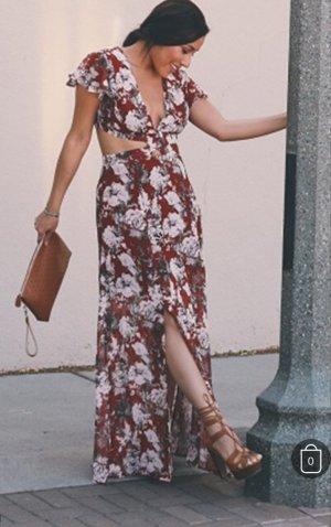 Neu! SheInside Blogger Cut-Out Long dress Kleid Gr. XS S 34 36