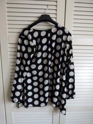 Neu! Shirt Bluse mit Punkten  schwarz weiß one size