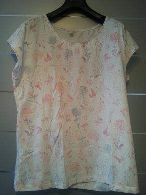 NEU! Shirt von Esprit, weiß mit Muster, Größe XL