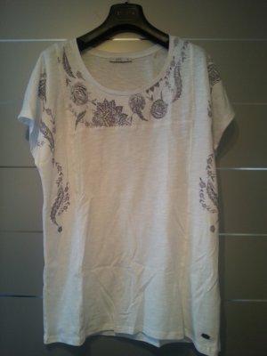 NEU! Shirt von Esprit, weiß, Muster, Größe XL