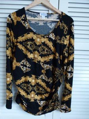 Neu! Shirt von Peter Hahn schwarz gold Größe 42