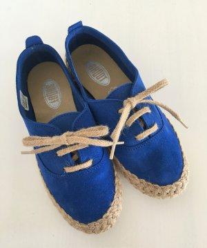 Shoot Ballerinas blue-neon blue leather