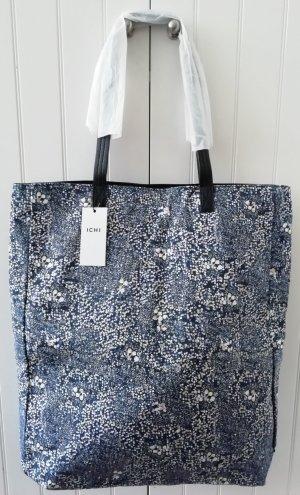 NEU Shopper große Tasche Stoff Badetasche blau weiß ICHI