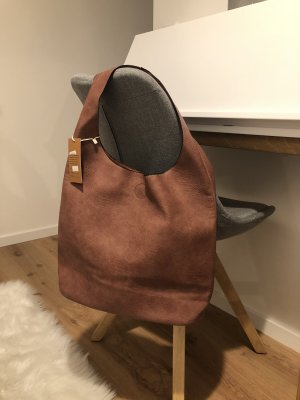Neu Shopper Tasche Handtasche Flieder mit Magnetverschluss breiter Riegel Beutel