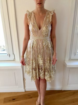 NEU Showpo Cocktailkleid Gr. 36 (S) in Gold