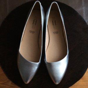 5th Avenue Ballerina a punta grigio chiaro Pelle