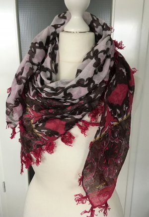 Sisley Fringed Scarf multicolored cotton