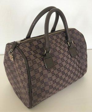 NEU Sisley Monogramm Damen Tasche Speedy Canvas Leder Braun Handtasche Muster