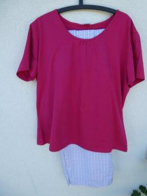 Pijama rosa-blanco Algodón