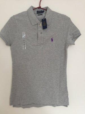 Neu! Skinny-Fit Poloshirt von POLO Ralph Lauren grau Gr. S