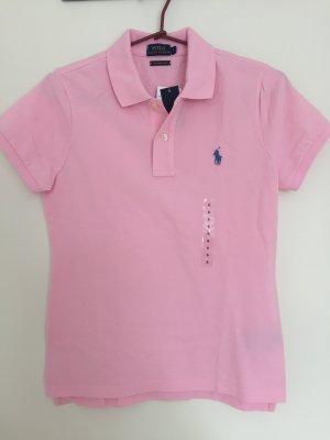 Neu! Skinny-Fit Poloshirt von POLO Ralph Lauren rosa Gr. S