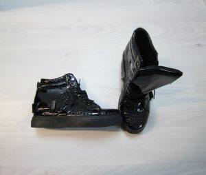 NEU Sneaker Wedges Keilabsatz Kroko Style Boots