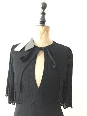 Zara Woman Robe longue noir viscose