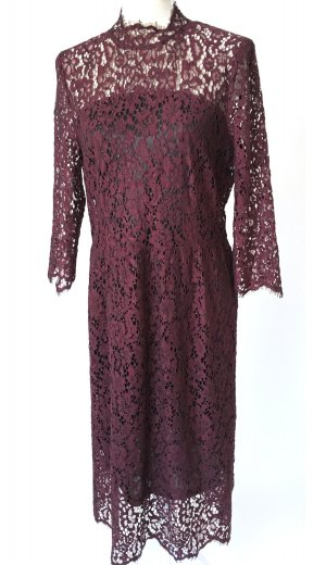 Soaked in luxury Lace Dress multicolored mixture fibre