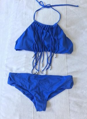 NEU Sommer Bikini Strandmode Sommerurlaub blau azur blau S M 38