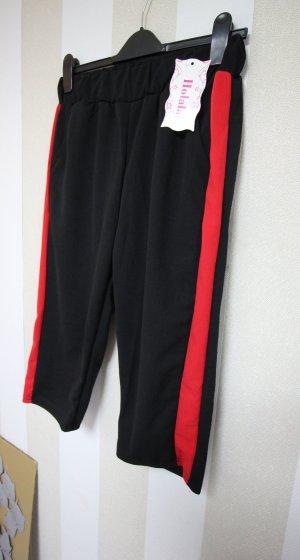 Pantalon 3/4 noir-rouge