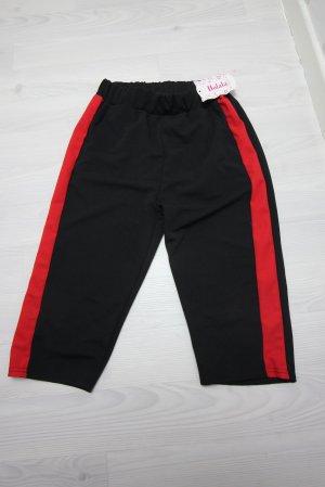 Pantalone corto nero-rosso