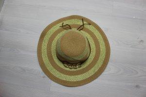 Sombrero marrón arena-color oro