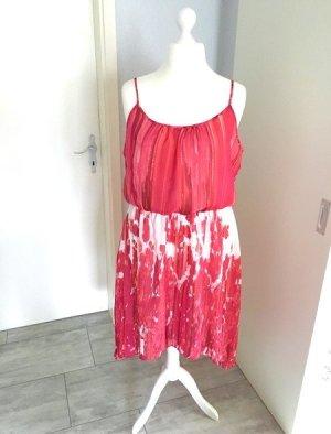 NEU Sommer Träger-Kleid Gr. 48 - pink/weiß