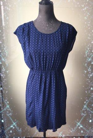 Manguun Vestido de tela de sudadera azul