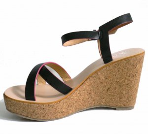Wedge Sandals multicolored imitation leather