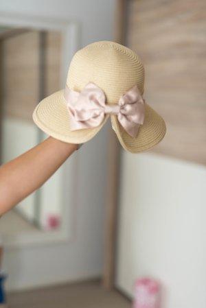 NEU Sonnenhut Hut mit Krempe beige & rosé
