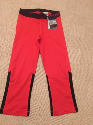 Nike Pantalone da ginnastica nero-rosso